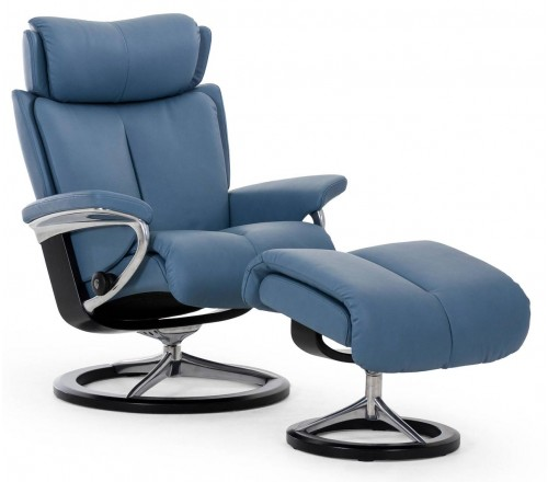 Stressless Magic Signature Recliner & Ottoman