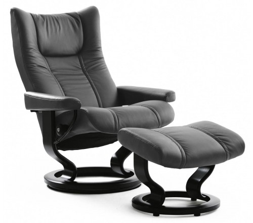 Stressless Wing Classic Recliner & Ottoman
