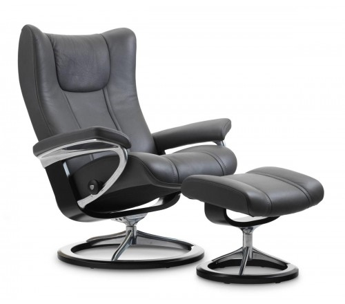 Stressless Wing Signature Recliner Ottoman From 2 395 00 By