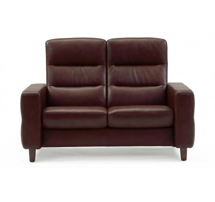 Stressless Wave High-Back Loveseat