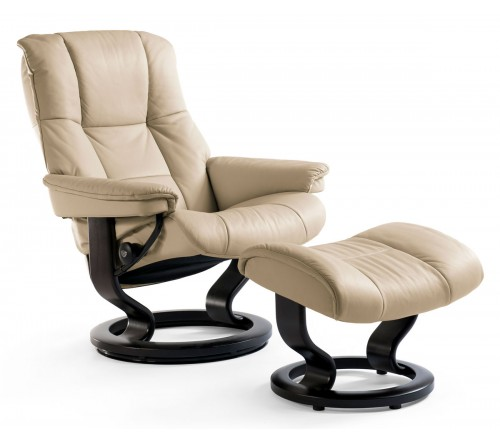 Stressless Mayfair Classic Recliner & Ottoman