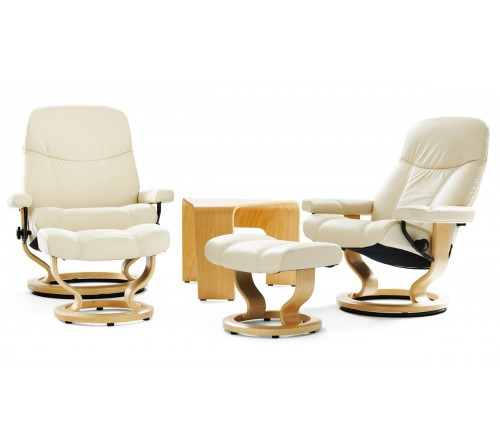 Tremendous Stressless Consul Classic Recliner Ottoman Machost Co Dining Chair Design Ideas Machostcouk