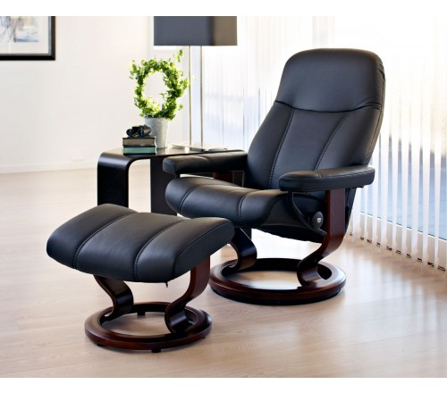 Strange Stressless Consul Classic Recliner Ottoman Gmtry Best Dining Table And Chair Ideas Images Gmtryco