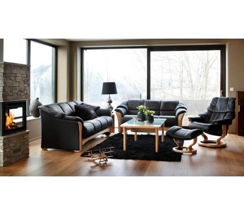 Ekornes Oslo Sofa Wood Trim