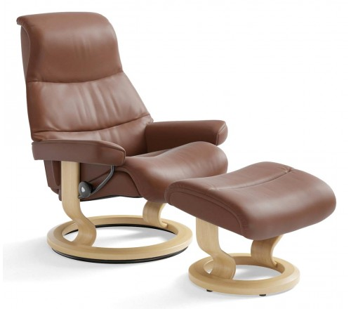Seriøst Stressless View Classic Recliner & Ottoman from $3,195.00 by LU-55